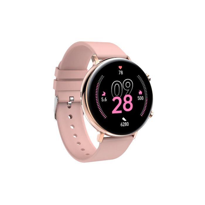Ceas smartwatch TechONE® GW33, 1.3 inch IPS Full Touch, bratara fitness, BT 4.2, raspuns/refuz apel, pasi, ritm cardiac, EKG, oxigen, notificari aplicatii, apel bluetooth, sporturi multiple, rezistenta apa IP68, Auriu