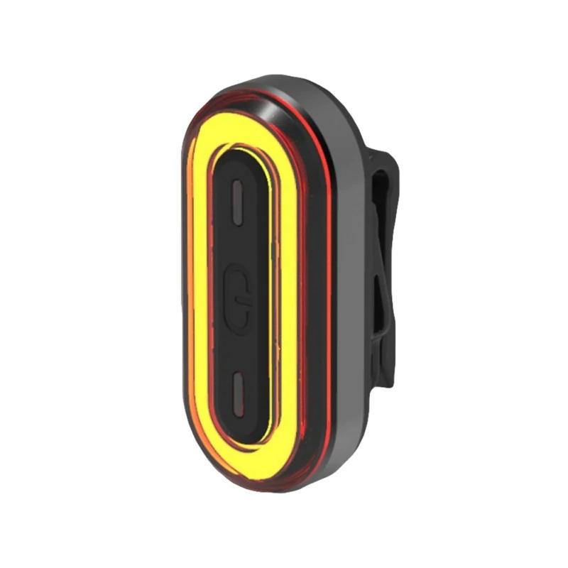 Stop bicicleta Huerler® BK400, COB LED, rezistent la apa IPX8, acumulator 450mAh, unghi luminare 160 grade, functie lumina semnalizare persone, incarcare USB, 5 moduri, negru