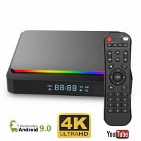 Mini PC TV Smart Box Runmus® X3 PRO S905X3 Amlogic, Android 9, 6K, dual WI-FI, Quad Core ARM Cortex A55, DDR3 4GB RAM, HDMI, memorie 32GB, BT 4.1, culori RGB, display, nstalare aplicatii PlayStore, Youtube, Netflix, filme, seriale, negru