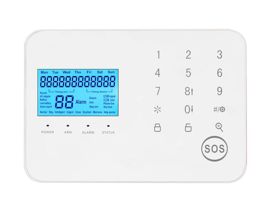 Sistem de alarma wireless Wale® JT-10TW, 2 senzori, WIFI, aplicatie Tuya, acumulator inclus, programabila armare/dezarmare, senzor miscare, senzor usa, sirena, telecomanda, pentru casa, birou, apartament, Google Home/Alexa, alb