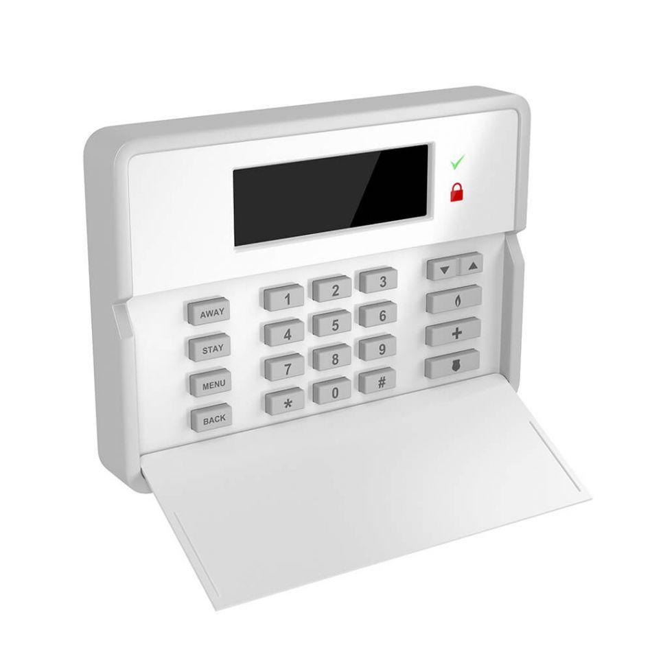 Sistem de alarma wireless Wale® JT-10TW, 6 senzori, control aplicatie Tuya, acumulator inclus, programabila armare/dezarmare, senzor miscare, senzor usa, sirena, telecomanda, pentru casa, birou, apartament, alb