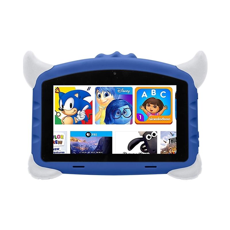 Tableta copii Techone® K702, 7 inch HD IPS,  Quad Core, A50 Qual core 1.2Ghz, 1GB RAM, 16GB memorie stocare, Android 8.1, Bluetooth 4.0, camera foto fata/spate, difuzor stereo, carcasa anti-soc, albastru