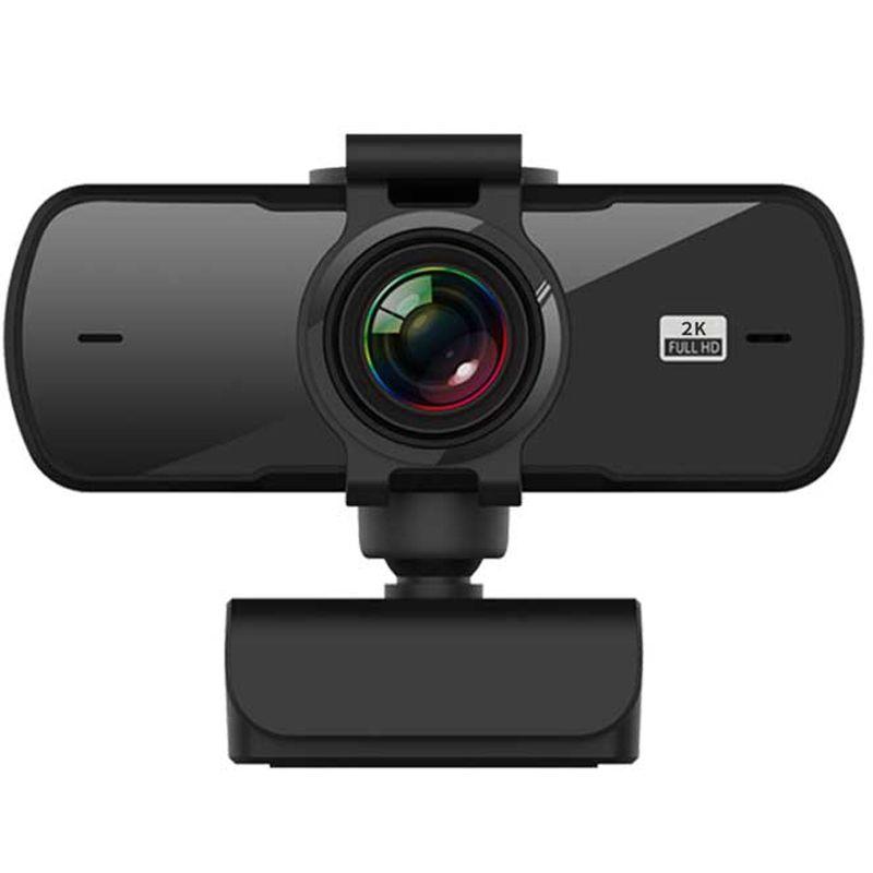 Camera web, Loosafe™ MP05, 2K 4MP, 30FPS, rezolutie 2560 x 1440 anulare zgomot de fond, capac securitate, rotatie 360, filet trepied, negru