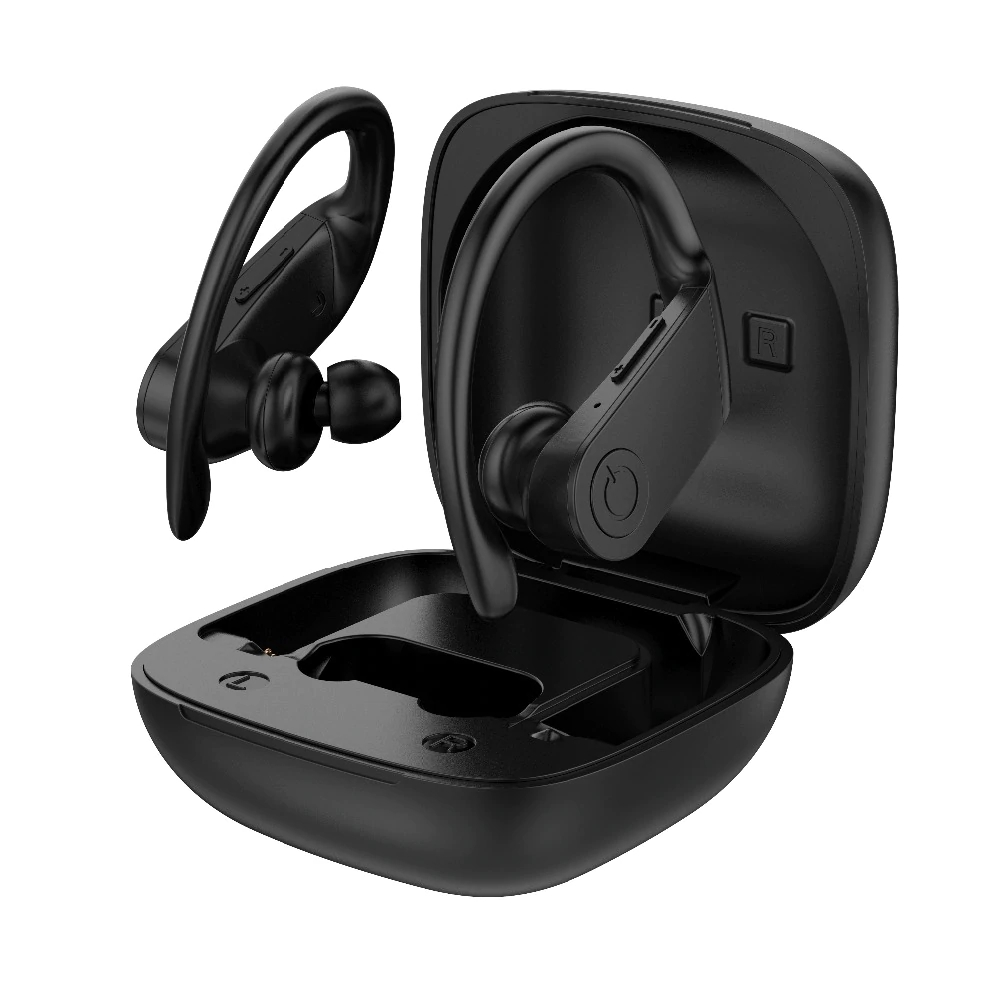 Casti bluetooth Runmus® B11-TWS, wireless, display LED, voce HD, Hi-Fi, handsfree, BT 5.0, ergonomic, touch, control mobil, microfon, auto imperechere, bass puternic, compatibil universal, reducere zgomot, negru