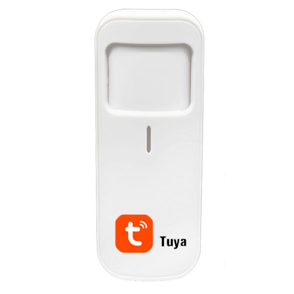 Senzor de miscare Smart Wi-Fi Wale® MST11, cu conectare in aplicatie, alarma pe telefon, functionare individuala, aplicatie smart Tuya, alb