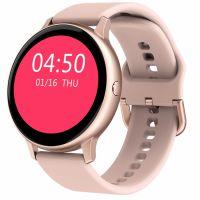 Ceas smartwatch TechONE™ CF22, 1.3 inch Touchscreen, multi sport, bluetooth 5.0, ritm cardiac, oxigen, rezistent la apa, notificari, vibratii, roz
