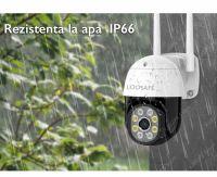 Camera de supraveghere WIFI Loosafe® QW18, 2MP, exterior / interior, Full HD, 4X zoom, rotire din aplicatie, leduri lumina, comunicare bidirectionala, stocare card/cloud, senzor miscare,