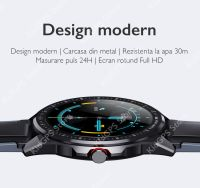 Ceas smartwatch TechONE™ SN88, 1.3 inch TFT HD, multi sport, bluetooth 5.0, ritm cardiac, oxigen, GPS, rezistent la apa IP68, notificari, vibratii, apel bluetooth, senzor Bosch, stand by 20 zile, negru