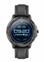 Ceas smartwatch TechONE™ CF19, 1.3 inch IPS HD, multi sport, ritm cardiac inteligent, EKG, rezistent la apa IP68, difuzor, notificari, vibratii, folie protectie ecran inclusa, negru