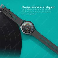 Ceas smartwatch TechONE™ LS05 Solar, 1.3 inch TFT HD, BT 5.0, multi sport, metalic, ritm cardiac inteligent, rezistent la apa IP68, notificari, vibratii, folie protectie ecran inclusa, auriu