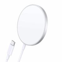 Incarcator wireless Loowoko™ MW12, pentru iPhone 12, 15W Fast Charge, magnetic, incarcare prin husa, Alb