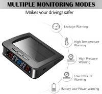Sistem monitorizare presiune aer anvelope Techone® C220e, senzori externi, ecran color, incarcare solara si micro USB,  alarma auditiva, auto OFF, negru