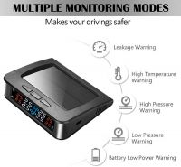 Sistem monitorizare presiune aer anvelope Techone® C220i, senzori interni, ecran color, incarcare solara si micro USB,  alarma auditiva, auto OFF, negru