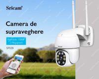 Camera de supraveghere WIFI Sricam™ SP028 interior/exterior, 4X zoom, rezistenta la apa, 2MP, comunicare bidirectionala, senzor miscare, alb