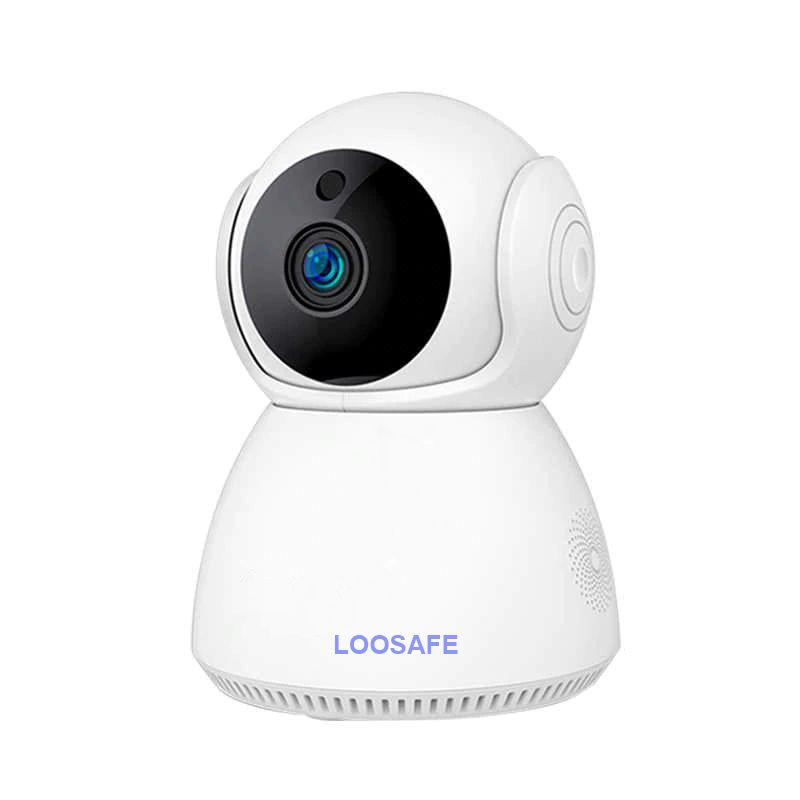 Camera de supraveghere wifi Loosafe® Q8, 3MP, Night vision, Rotire automata rapida, senzor miscare, sunet bidirectional, stocare card/cloud, alb