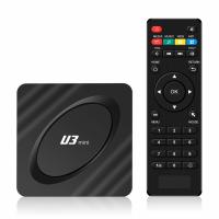 Mini PC TV Box Runmus® U3, Android 9.1, 4K, WI-FI, Amlogic Quad Core ARM Cortex A53 @2GHz, DDR3 2GB RAM, HDMI, memorie 16GB, negru
