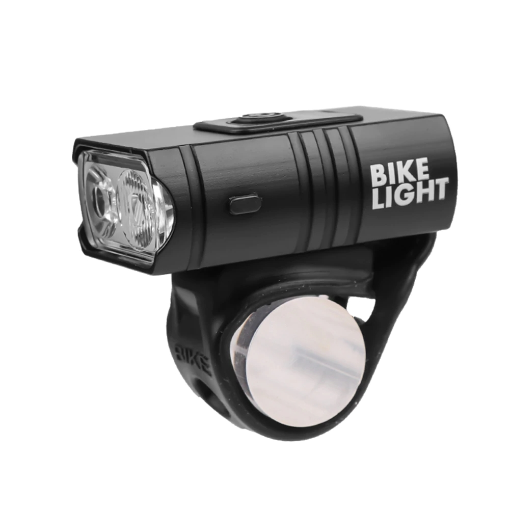 Far bicicleta Huerler® Z03A, 2 x T6 LED, acumulator 1000mAh,  incarcare USB, rezistent la apa, 4 moduri luminare, negru