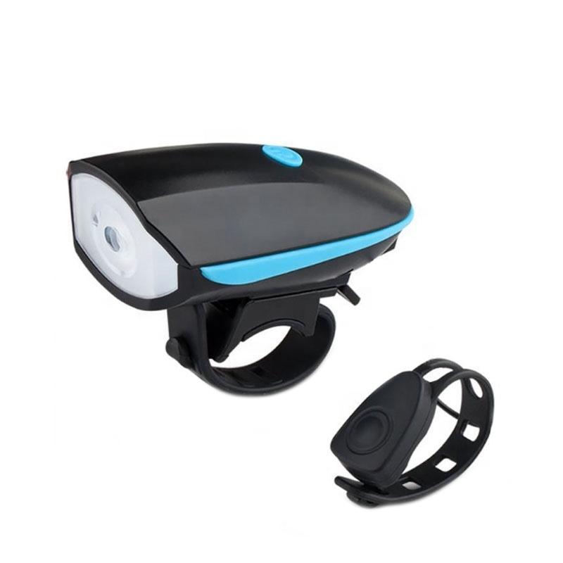 Far bicicleta cu claxon Huerler® 7588, 1 x LED CREE XPG, acumulator 1200mAh,  incarcare USB, rezistent la apa, 4 moduri luminare, negru