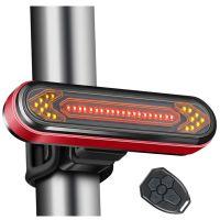 Semnalizare stop bicicleta cu telecomanda, Huerler® BK6700, LED, rezistent la apa, acumulator 500mAh, negru