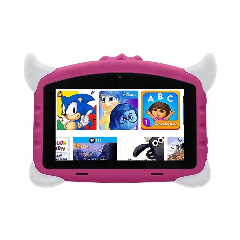 Tableta copii Techone® K702A, 7 inch HD IPS,  Quad Core 1.2Ghz, 1GB RAM DDR3L, 16GB memorie stocare, Android 8.1, Bluetooth 4.0, camera foto fata/spate, difuzor stereo, carcasa anti-soc, roz
