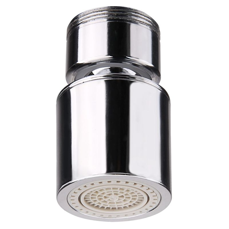 Aerator apa pivotant Topaqua® SK-BP806(M), functie economizor, filtrare, miez ceramic, doua moduri dus/bule, dimensiune M24, debit 4.5 L/min, cromat, argintiu