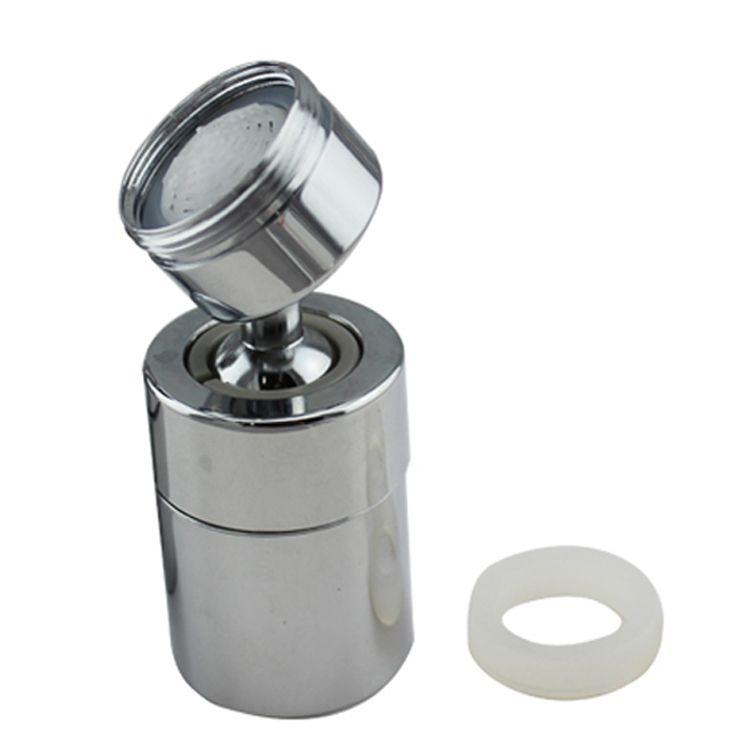 Aerator apa dublu - pivotant Topaqua® SK-WS809-D, functie economizor, filtrare, miez ceramic, doua moduri dus/bule, dimensiune dubla M22 mama / M24 tata, debit 4.5 L/min, cromat, argintiu