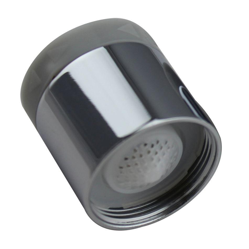 Aerator apa Topaqua® SK-BS806(F), functie economizor, filtrare, miez ceramic, doua moduri dus/bule, dimensiune M22 mama, debit 4.5 L/min, cromat, argintiu