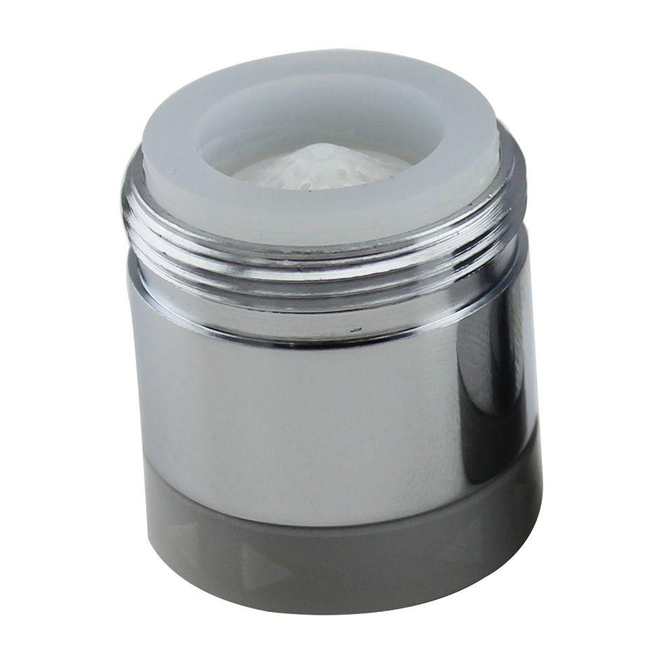 Aerator apa Topaqua® SK-BS806(M), functie economizor, filtrare, miez ceramic, doua moduri dus/bule, dimensiune M24 tata, debit 4.5 L/min, cromat, argintiu