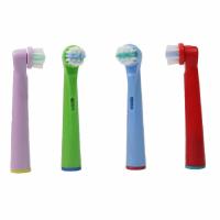 Set 4 rezerve periuta de dinti electrica Oral-B, Horigen® EB-10A, pentru copii, compatibile, 4 culori
