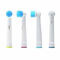Set 4 rezerve periuta de dinti electrica Oral-B, Horigen® EB-17S Clean Round, compatibile, peri moi, alb