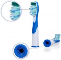 Set 4 rezerve periuta de dinti electrica Oral-B, Horigen® SR12A.18A Sonic, compatiblie alb/albastru