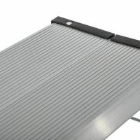 Scara aluminiu dubla KD Home®, inaltime 25 cm, pliabila, cu sistem de blocare si treapta antiderapanta, negru