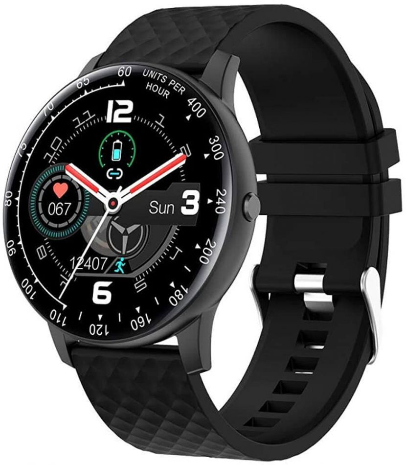 Resigilat Ceas smartwatch TechONE™ DT95, 1.3 inch IPS HD, multi sport, apel bluetooth, agenda, ritm cardiac inteligent, EKG, rezistent la apa IP68, difuzor, notificari, vibratii, negru