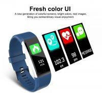 Resigilat Bratara fitness TechONE™ ID115 Pro, color, multi sport, puls, tensiune, notificari, control camera foto, negru