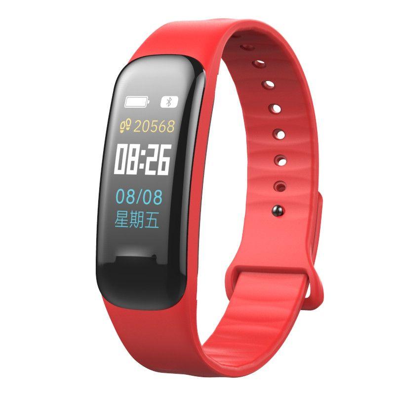 Resigilat Bratara fitness TechONE™ C1Plus, ecran color, IP67, puls dinamic, tensiune, oxigen, Android, iOS, stand by 15 zile,notificari, rosu