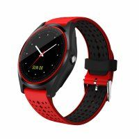 Resigilat Ceas smartwatch TechONE™ V9, sim, 1.22 inch HD, camera foto, notificari, FB, Whatsup, pedometru, anti-lost, rosu