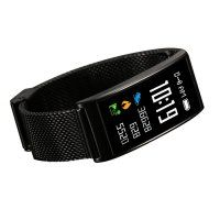 Resigilat Bratara fitness TechONE™ FitGear X3,  Stand by 40 de zile, puls, IP 68, color, BT 4.0, tensiune, Android, iOS, notificari, remote camera, negru