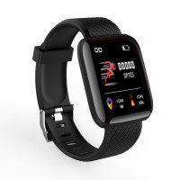 Resigilat Bratara fitness TechONE™ ID116 Pro, color, 1.3 inch, ip67, multi sport, puls, tensiune, notificari, control camera foto, negru