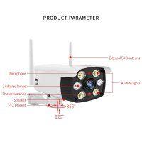 Resigilat Camera de supraveghere WIFI Loosafe™ YS-216, de exterior, inregistrare in cloud/card, rezistenta la apa, 2MP 1080p, senzor miscare, comunicare bidirectionala, activare lumina, alb