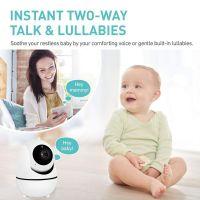 Resigilat Baby monitor copii si bebelusi Loosafe™ SM32, 3.2 inch, video, audio, rotire motorizata, comunicare bidirectionala, detectie temeperatura, cantece de leagan, semnal puternic, vedere noaptea, zoom, alarma, alb