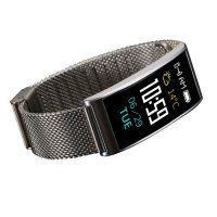 Resigilat Bratara fitness TechONE™ FitGear X3,  Stand by 40 de zile, puls, IP 68, color, BT 4.0, tensiune, Android, iOS, notificari, remote camera, argintiu