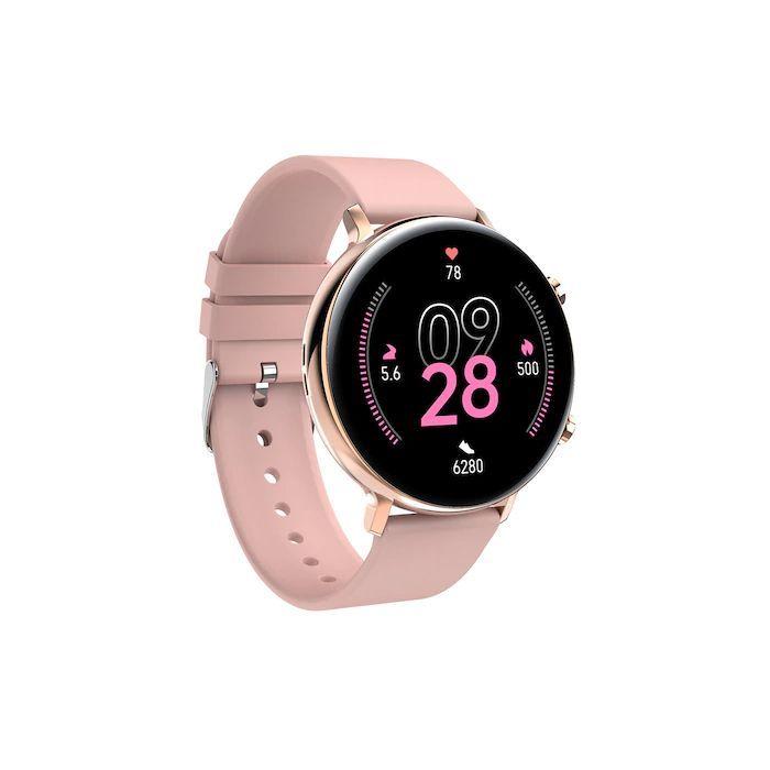 Resigilat Ceas smartwatch TechONE® GW33, 1.3 inch IPS Full Touch, bratara fitness, BT 4.2, raspuns/refuz apel, pasi, ritm cardiac, EKG, oxigen, notificari aplicatii, apel bluetooth, sporturi multiple, rezistenta apa IP68, Auriu
