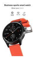 Resigilat Ceas smartwatch TechONE™ DT55, 1.3 inch Full HD, ritm cardiac, ECG, oxigen, rezistent la apa IP67, senzor Bosch, bratara fitness, Notificari, Vibratii, stand by 7 zile, sporturi multiple, fatete multiple, bratara metalica, Auriu
