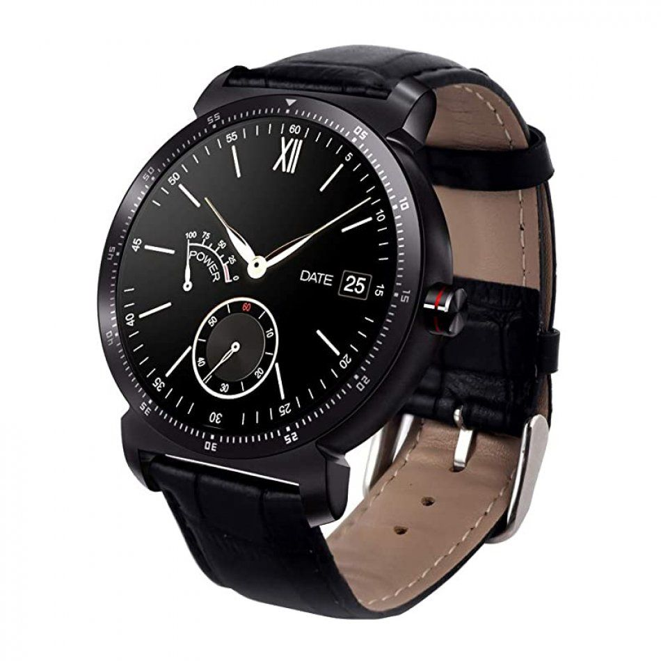 Resigilat Ceas smartwatch TechONE™ K88H Plus, full touch IPS 1.3 inch, ecran HD, ritm cardiac, functie telefon, agenda, notificari, slim, negru