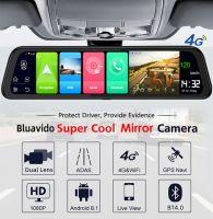 Resigilat Camera auto dubla oglinda DVR Loosafe™ RoadTeam H12 cu SIM 4G + WiFi, chipset Sony, Android, GPS, 12 inch, Navigatie, camera marsarier, Full HD 30fps, night vision, unghi de filmare 170 grade, detectare miscare, lentile Sony, monitorizare Live