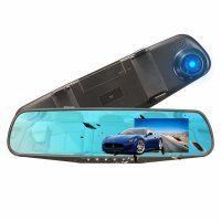 Resigilat Camera auto oglinda DVR Loosafe™ RoadTeam L706, 4.3 inch, Full HD 30fps, unghi 170 grade, camera marsarier, inregistrare cliclica, WDR, negru