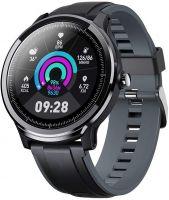 Resigilat Ceas smartwatch TechONE™ SN80, stand by indelungat, sporturi multiple, carbon, rezistent la apa, notificari, fatete multiple, ritm cardiac, senzor Bosch, vigratii, negru
