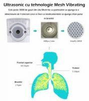 Resigilat Aparat aerosoli KD Home VK-8201, nebulizator, portabil, validat clinic, ultrasonic, baterii si adaptor priza, tehnologie Mesh, accesorii, trusa depozitare, super silentios, alb