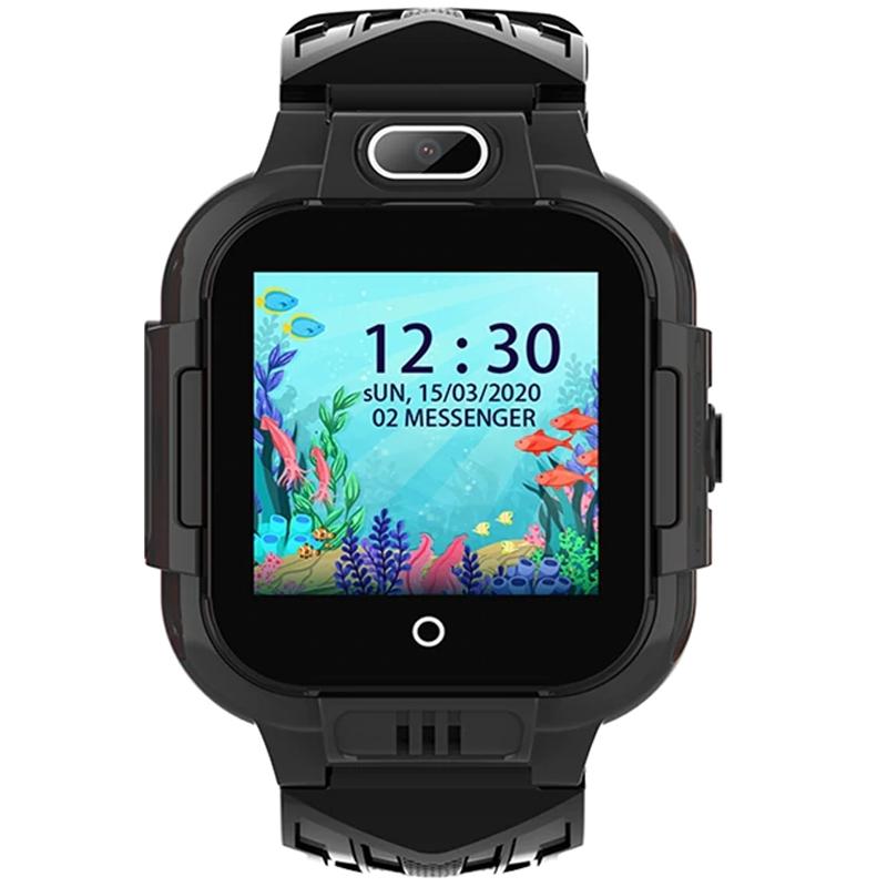 Ceas smartwatch GPS copii Techone™ KT16 4G, 1.4 inch IPS, apel video, camera ultrapixel, Wi-Fi, rezistent la apa IP67, telefon, bluetooth, SOS, touchscreen, monitorizare spion, Negru