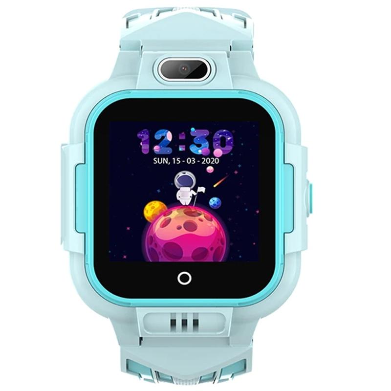Ceas smartwatch GPS copii Techone™ KT16 4G, 1.4 inch IPS, apel video, camera ultrapixel, Wi-Fi, rezistent la apa IP67, telefon, bluetooth, SOS, touchscreen, monitorizare spion, Albastru
